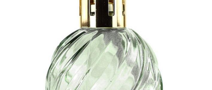 Velká katalytická lampa SPIRAL GREEN skleněná zelená