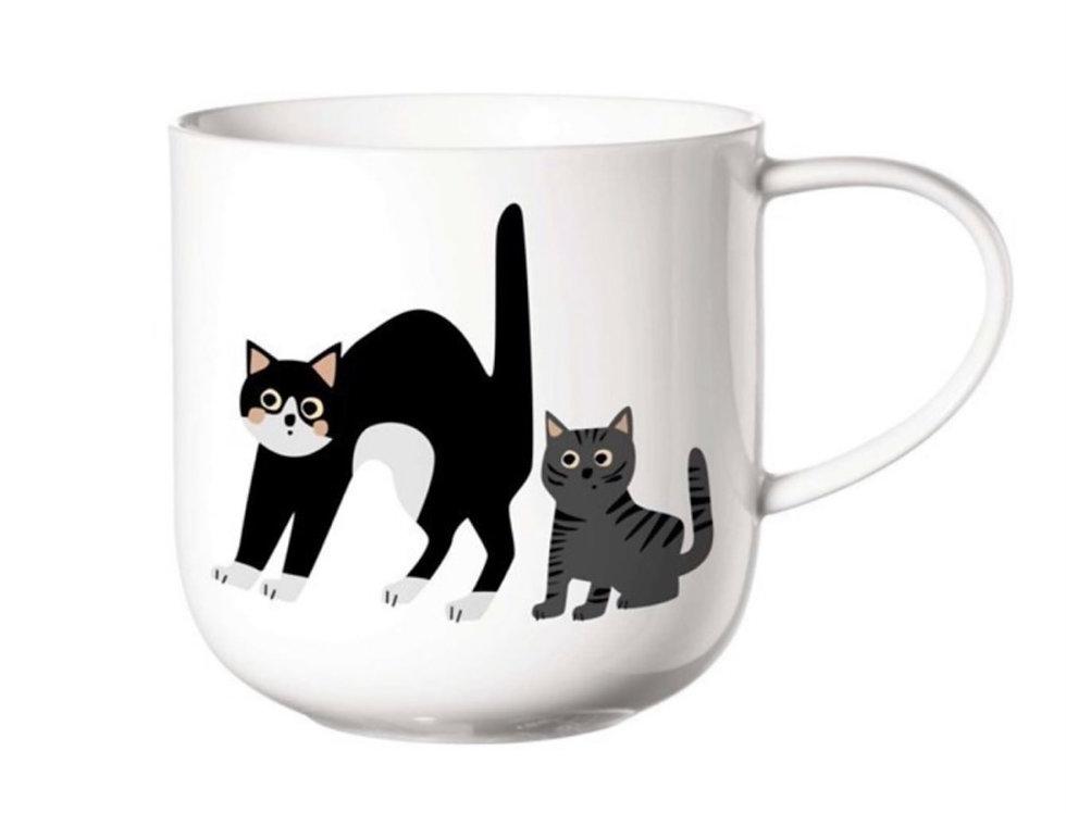 Porcelánový hrnek s motivem koček