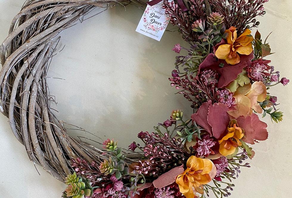 Podzimní věnec Peacock