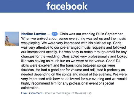 DJ Chris Poynter Reviews