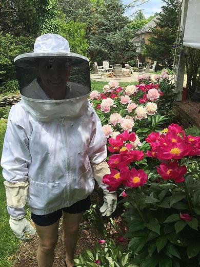 Kristin in bee suit.jpg