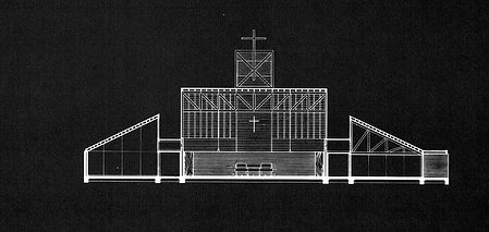 St. Barnabus Episcopal Church Drawing - Houston, TX 1965
