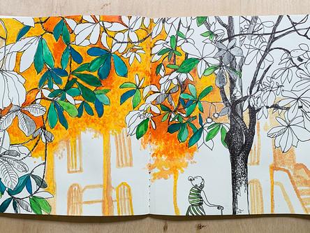 sketchbook - brooklyn trees