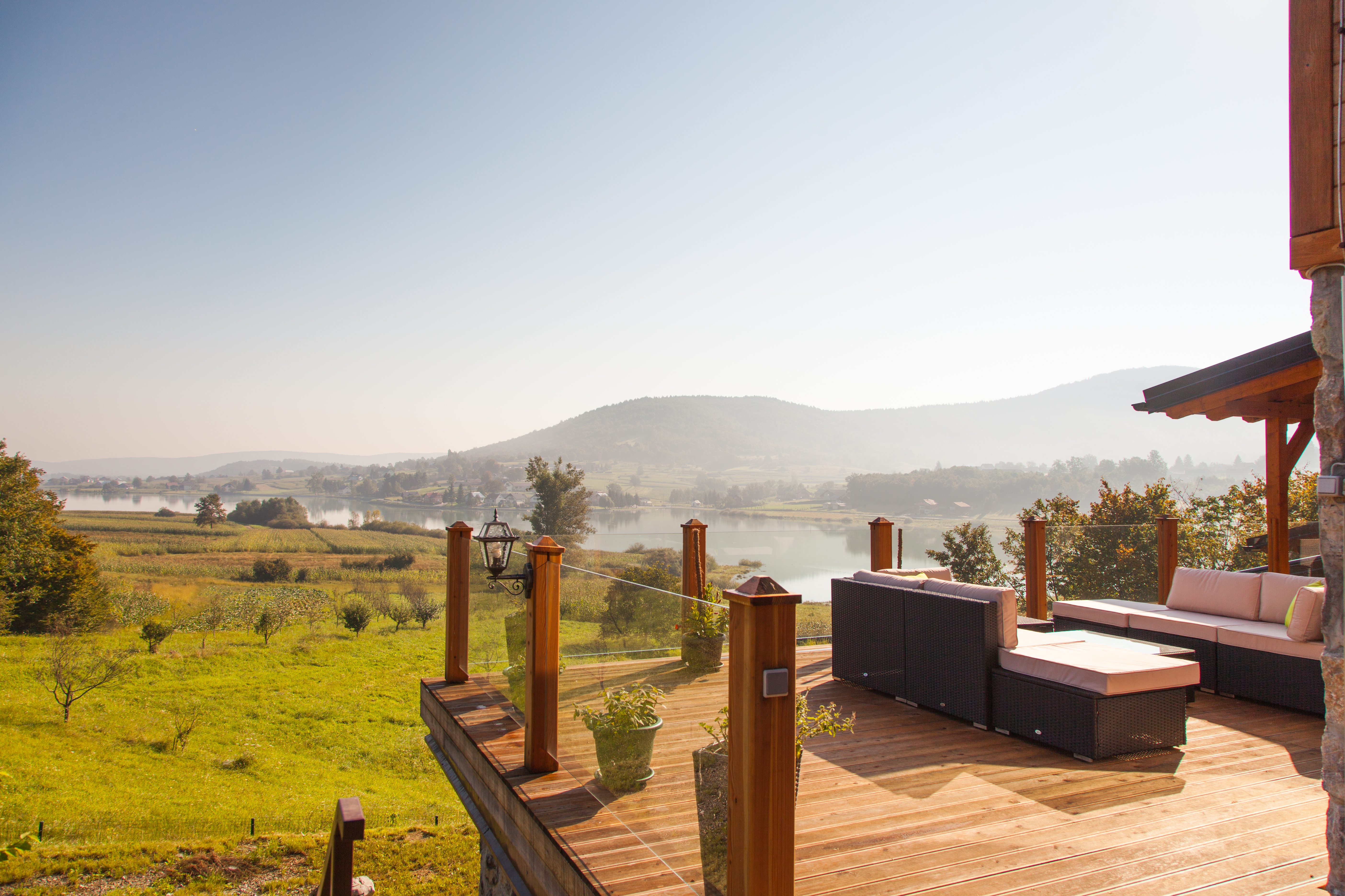 Villa Jelenic by Bertovic lake view