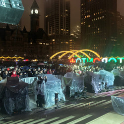 My point of view from the stage during New Years Eve @ Nathan Phillips Square!