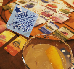 Enjoying a night out in Downtown PTBO courtesy of Boardwalk Board Game Lounge and Sweet Spirits!