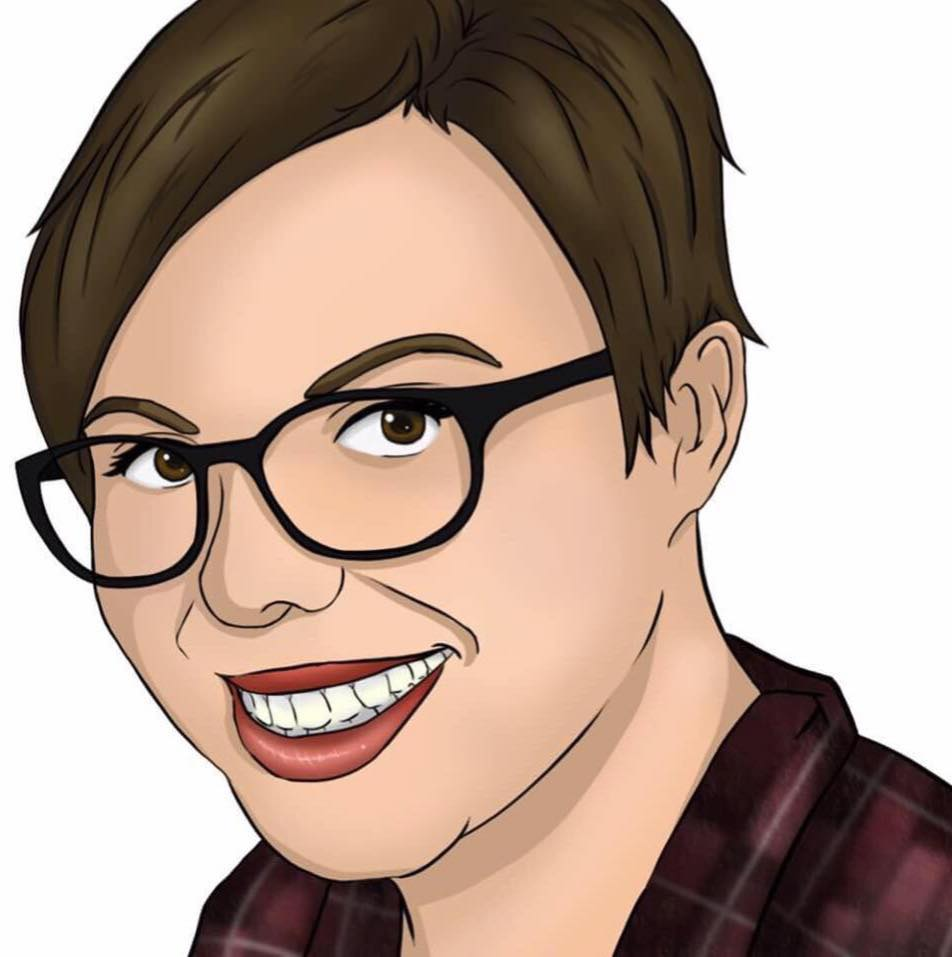 Illustrated headshot courtesy of my super talented sister Kayla (she's self taught!!)