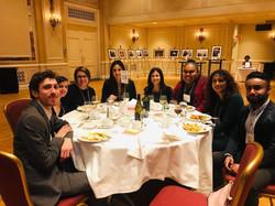 Enjoying an incredible meal while volunteering at the CJFE Gala @ The Fairmont Royal York