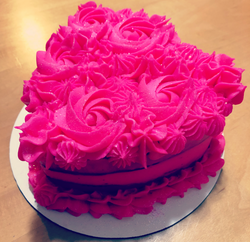 Gorgeous Valentines cake from Bevy's Cupcakes #supportlocal