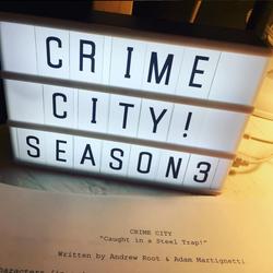 Back stage at Crime City's Season 3 Premiere!
