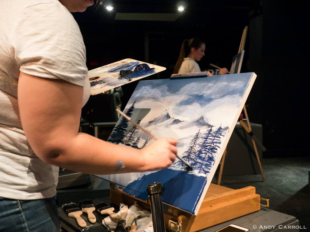 "Live Painting with Bob Ross in ""Joy of Bob"" at The Theatre On King"
