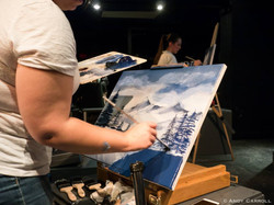 """Live Painting with Bob Ross in """"Joy of Bob"""" at The Theatre On King"""