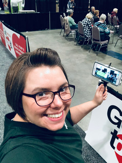 Live Streaming a talk while Stage Managing @ ZoomerShow