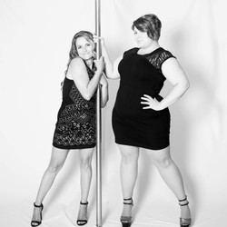 Vicky and I during a photoshoot for #PoleDancingPTBO