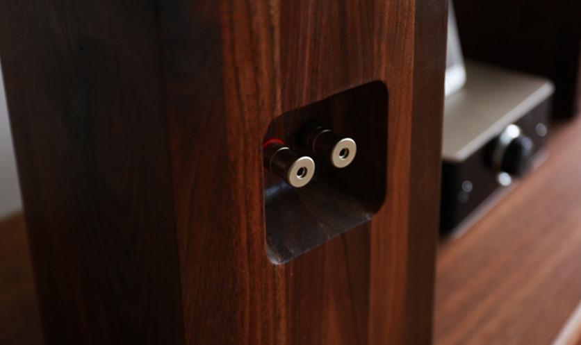 木製積層スパイラルホーンスピーカー<大>