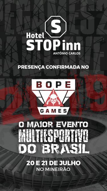 BOPE Games - Patrocinadores - Hotel Stop