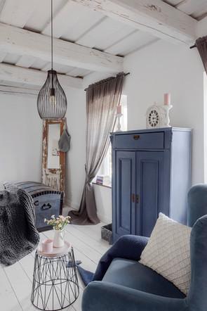 Pastwisko Mazury - sypialnia w części niebieskiej