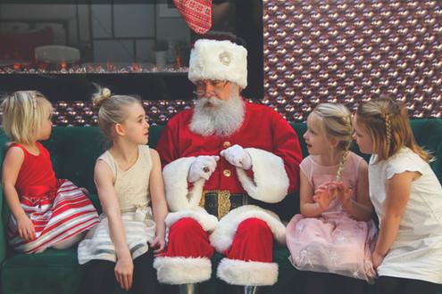 Santa and the girls