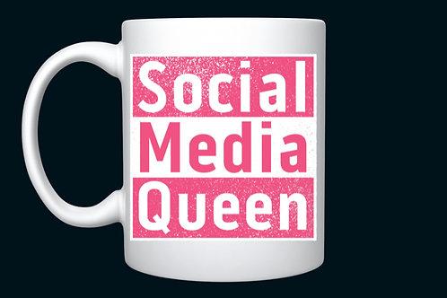 Pink Social Media Queen mug