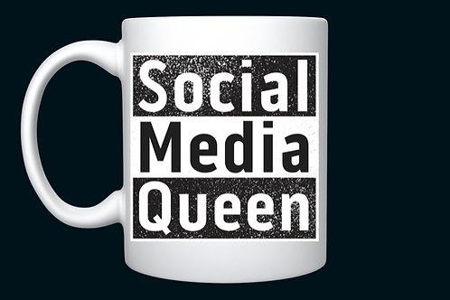 Black Social Media Queen mug
