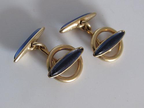 1930s Krementz Rolled Gold Cuff Links