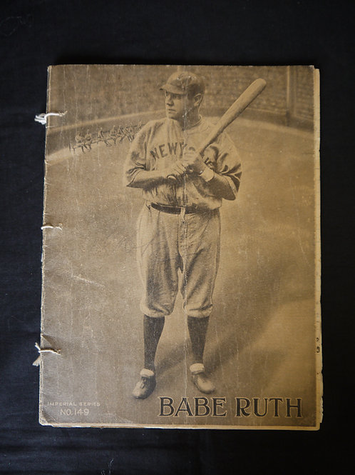 Vintage Babe Ruth Note Book