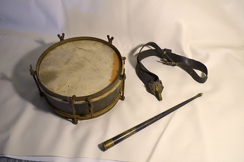 Antique Military Marching Snare Drum
