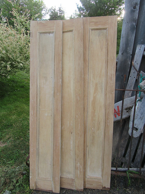 Pair of c.1800s Quebec Pine cupboard doors