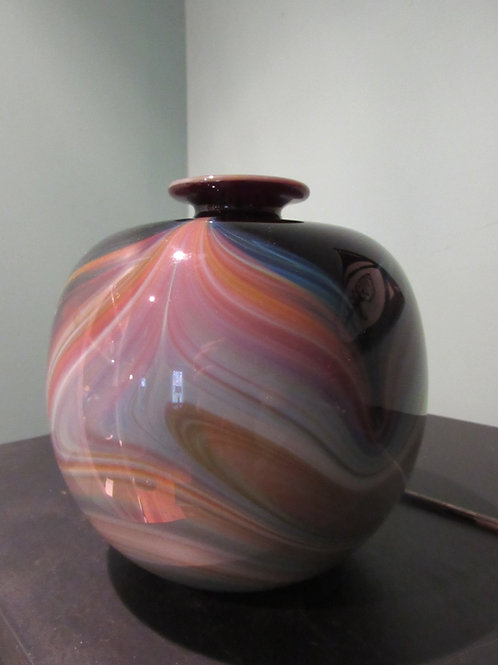Sally Worcester American Art Glass Vase