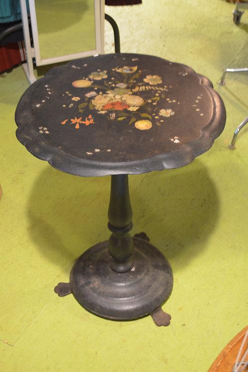 Antique Paper Maché Tilt Top table