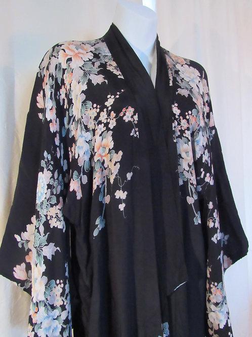 Vintage 1930s Silk Robe or Kimono