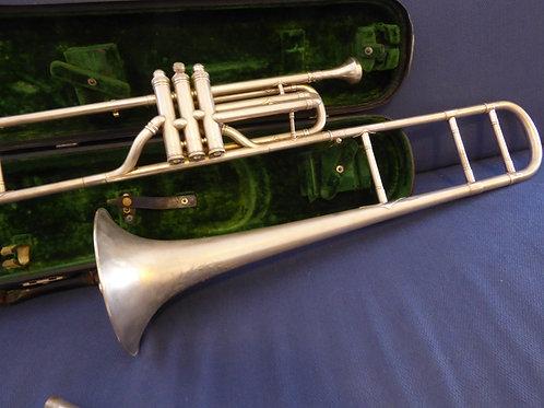 Silver Valve Trombone ca 1890s