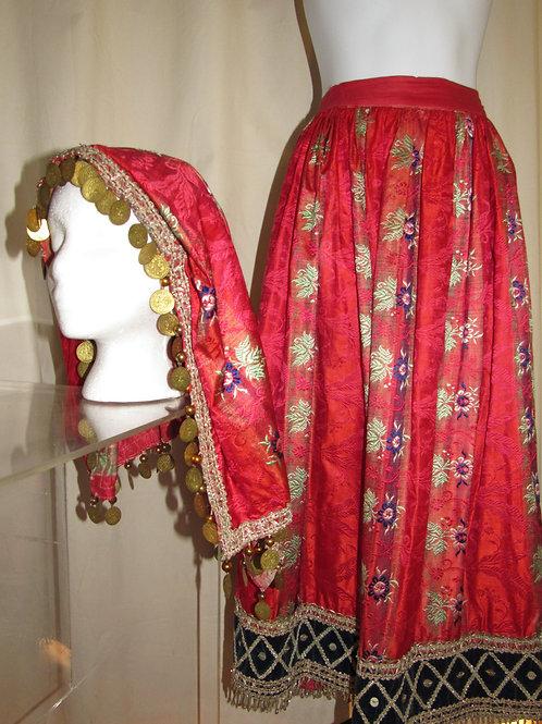 Vintage Silk Balkan Skirt with head covering