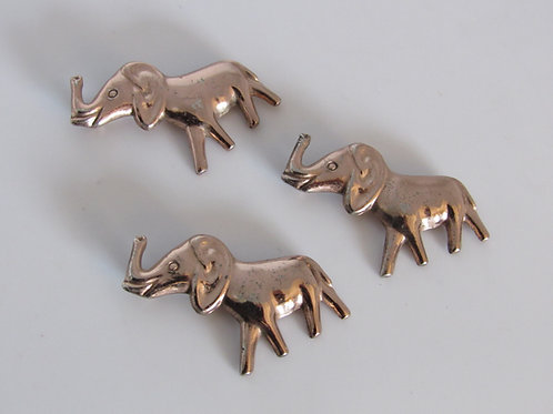 Vintage Sterling/Gold Filled Set of Elephant Pins