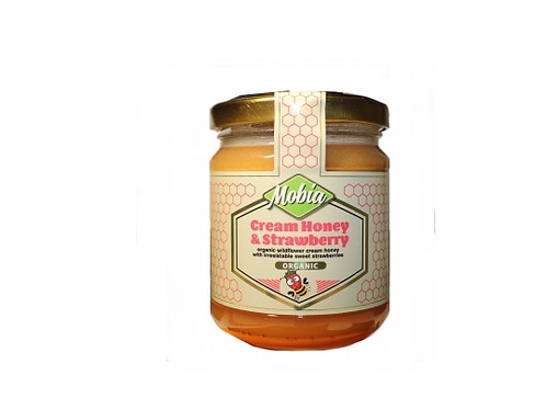 Mobia Cream Honey & Strawberry 240g