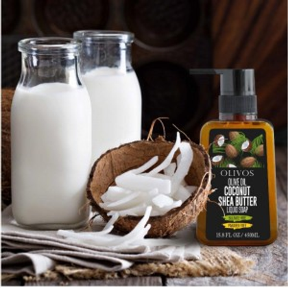 Olive Oil Coconut Shea Butter - Liquid Soap 450ml