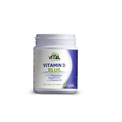 Vital Vitamin D Plus with Magnesium, Vitamin B12 and Vitamin K2 (60 caps)