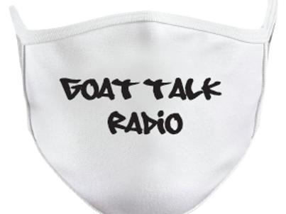 Goat Talk Radio Mask-White