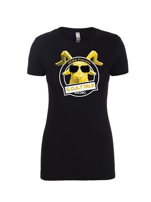 Goat Talk Radio with Logo T-Shirt (Womans)