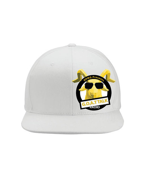 Goat Talk Radio Logo Snapback (White)