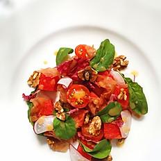 Prosciutto Ham, Watermelon, Rocket Salad & Walnut in Honey Dijon Mustard Red Wine Vinaigrette