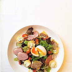 Chef Salad - Foie Gras, Smoked Duck Breast & Goat Cheese Salad in Honey Mustard Vinaigrette