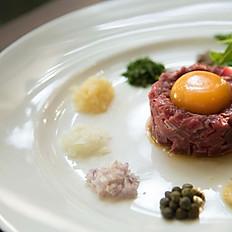 Tartare Steak 80 g.  (Raw Charolaise Beef with Free Range Egg)