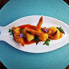 Fries Prawn in Tamarind Sauce