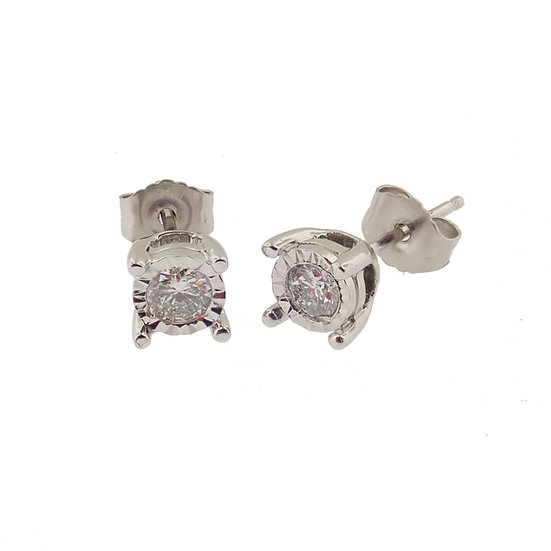 14kt White Diamond Stud Earrings