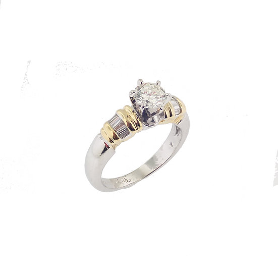 Platinum & 18kt Yellow Diamond Engagement Ring