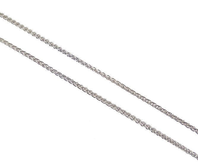 10kt White Machine Rope Chain