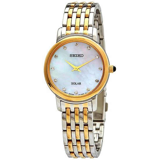 Seiko Diamonds Mother of Pearl Dial Ladies Watch