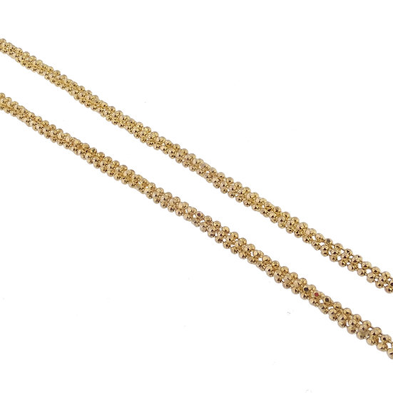 14kt Yellow Multi Strand Beaded Chain