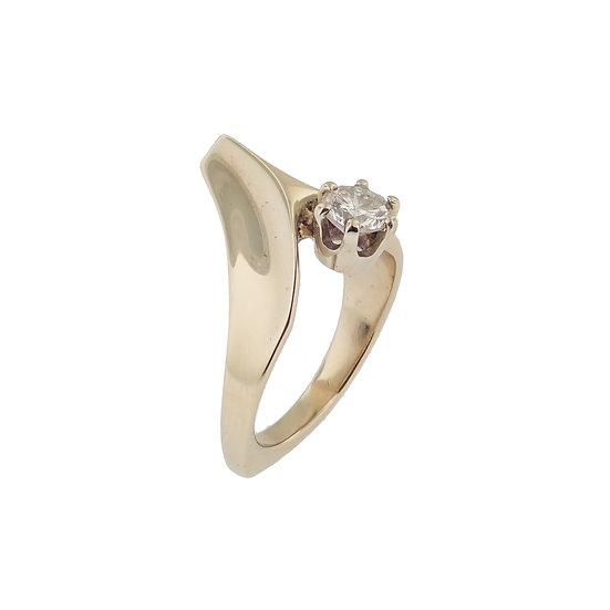 14kt Yellow Diamond Contemporary Design Engagement Ring